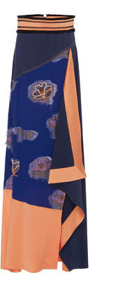 Peter Pilotto Flower Jacquard Layered Skirt