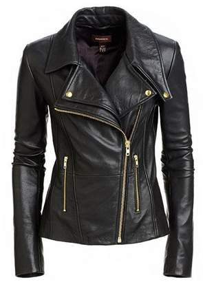 Mariyam Leather Women Stylish Slimfit Lambskin Genuine Leather Motorcycle Biker Jacket