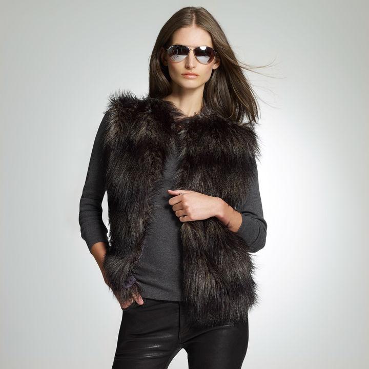 Jones New York Faux Fur Vest