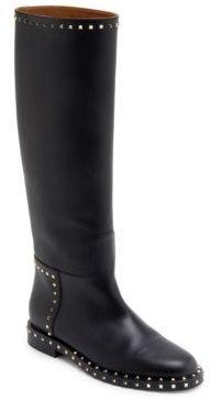 VALENTINO GARAVANI Soul Rockstud Tall Leather Boots