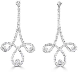 Neiman Marcus Diamonds 14k White Gold Diamond Chandelier Earrings