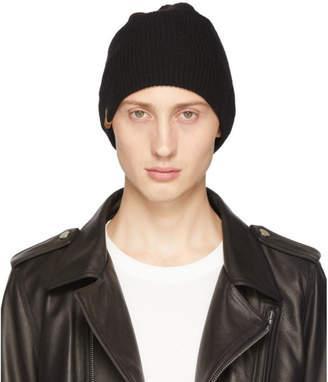Mackage Black Cashmere Tazio Rib Beanie