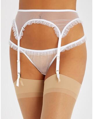 Myla Duchy Street mesh suspender belt