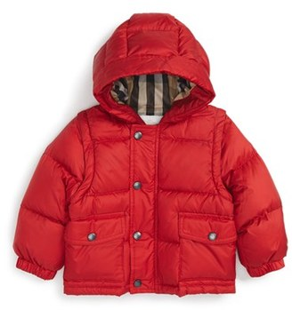 Infant Boy's Burberry Barnie Down Puffer Coat $365 thestylecure.com