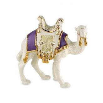 Lenox First Blessing Nativity Standing Camel Purple Saddle Pad Amethyst Porcelain