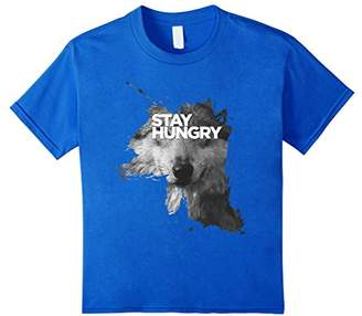 Stay Hungry Inspirational Wolf T-Shirt