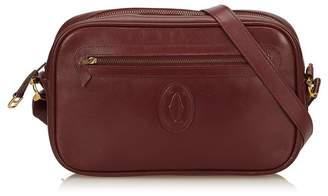 Cartier Vintage Leather Must De Crossbody Bag