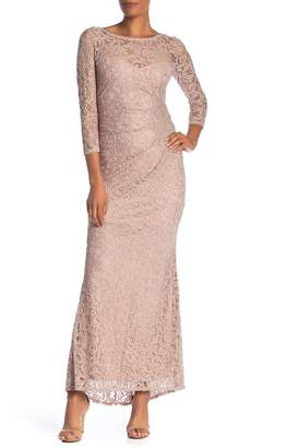 Marina Lace Sequin Gown