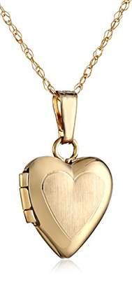 Girls' 14k Gold Heart Locket Pendant Necklace