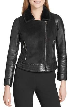 Calvin Klein Cropped Moto Jacket