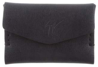Giuseppe Zanotti Leather Compact Wallet navy Leather Compact Wallet