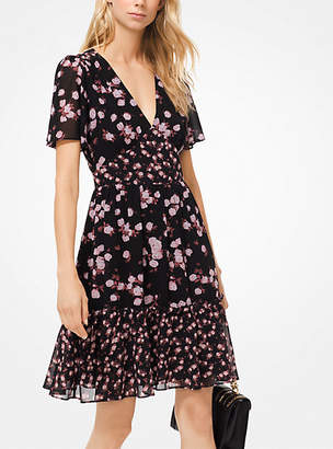 Michael Kors Mixed Rose Georgette Dress