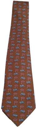 Hermes Brown Silk Tie