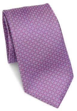 Saks Fifth Avenue COLLECTION Neat Floral Silk Tie