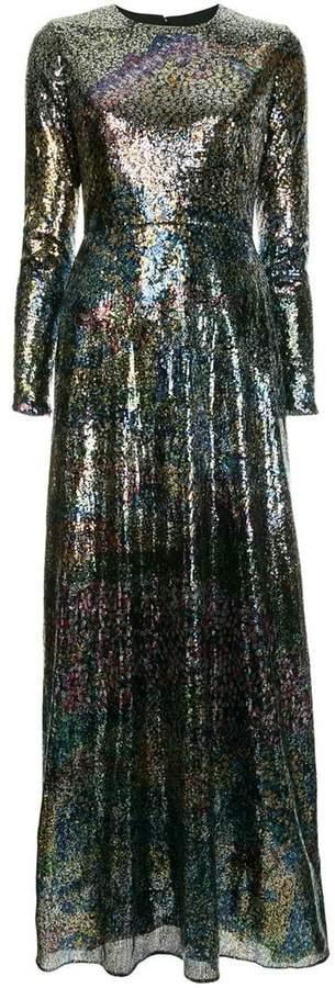 flared sequins dress