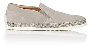 Tod's MEN'S SUEDE ESPADRILLE SNEAKERS-LIGHT GRAY SIZE 7 M