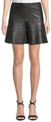 Parker Alex Studded Leather Mini Skirt