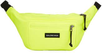 Balenciaga Men's Explorer Canvas Belt Bag, Yellow/Black