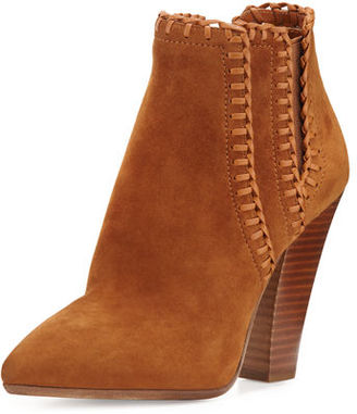 Michael Kors Channing Whipstitch Suede Bootie $550 thestylecure.com