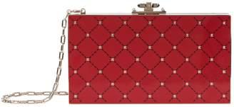 Valentino Enamel Rockstud Clutch Bag