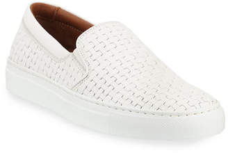 Aquatalia Ashlynn Woven Leather Slip-On Sneakers