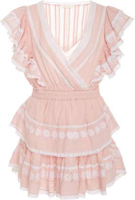 LoveShackFancy Gwen Cotton Tiered Ruffled Mini Dress