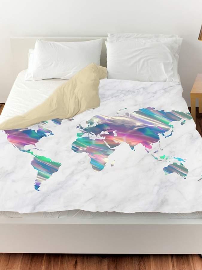 Mapamundi Holo Marble Duvet Cover