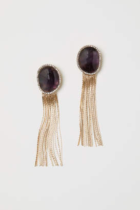 H&M Semiprecious Earrings - Pink