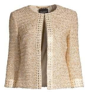 St. John Gilded Eyelesh Knit Jacket