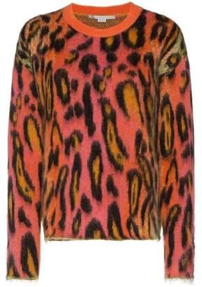Stella McCartney Leopard Print Mohair Jumper