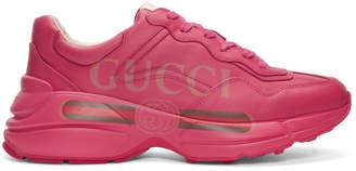 Gucci Pink Vintage Logo Rhyton Sneakers