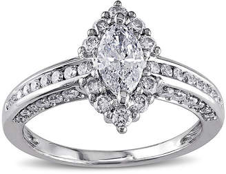 JCPenney MODERN BRIDE 1 CT. T.W. Marquise and Round Diamond 14K White Gold Ring