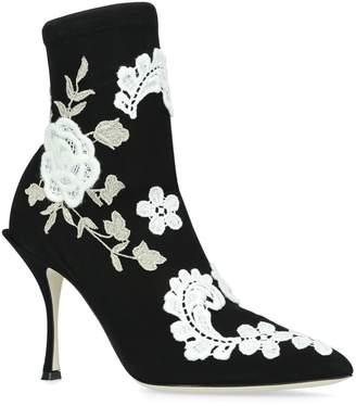 Dolce & Gabbana Macrame Lori Boots 90
