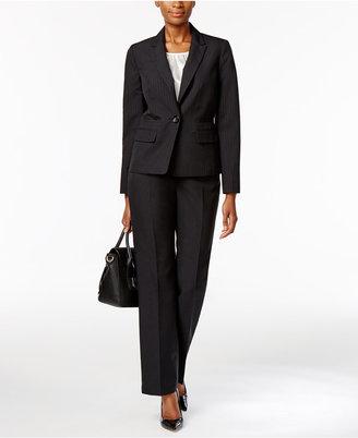 Le Suit Damask-Stripe Three-Piece Pantsuit $240 thestylecure.com