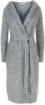 Max Mara Mohair Wool Hooded Cardigan