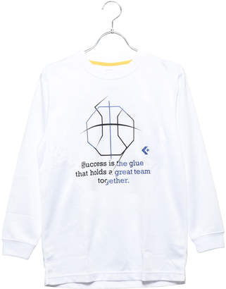 Converse (コンバース) - コンバース CONVERSE ジュニア バスケットボール 長袖Tシャツ 8F Jr.プリントロングスリーブシャツ CB482305L