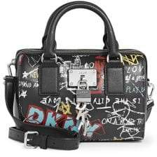 DKNY Printed Leather Satchel