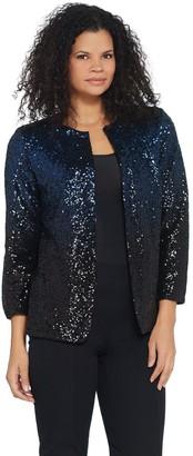 Bob Mackie Bob Mackie's Ombre Sequin Jacket