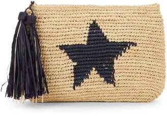 Mar y Sol Estella Star Fringed Straw Bag