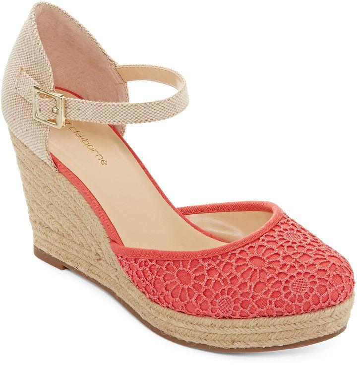 liz claiborne mabel espadrille wedge sandals shopstyle
