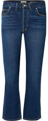EVE Denim Jane Cropped High-rise Flared Jeans
