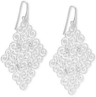 Macy's Geometric Filigree Drop Earrings in Sterling Silver