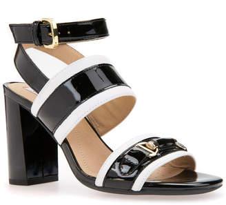 d09ec5a62 Geox Audalies High Sand Leather Heeled Sandal