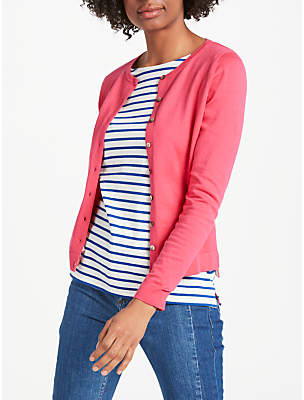Boden Favourite Crew Cardigan, Carnival Pink