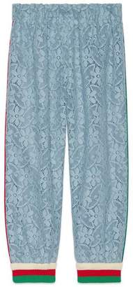 Gucci Children's flower lace track bottoms