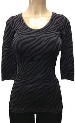 Bebe Women's Animal Print Casual Or Dressy 3/4 Sleeve Top in