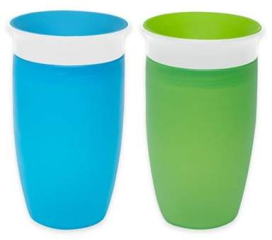 Munchkin® Miracle®360Âo 2-Pack 10 oz. Sippy Cups in Green/Blue