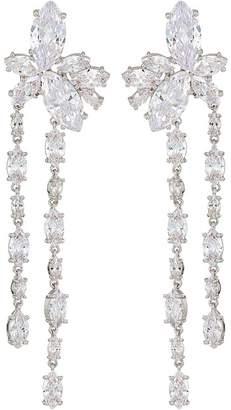 Nina Floral Stone Cluster Linear Drop Earrings Earring