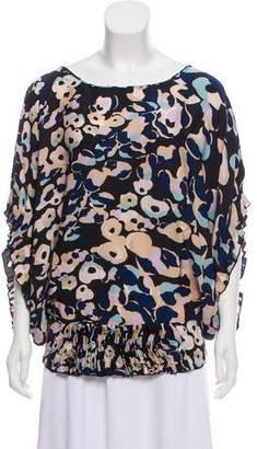 Diane von Furstenberg Silk Draped Blouse