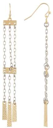 Jessica Simpson Linear Chain Fringed Dangle Earrings
